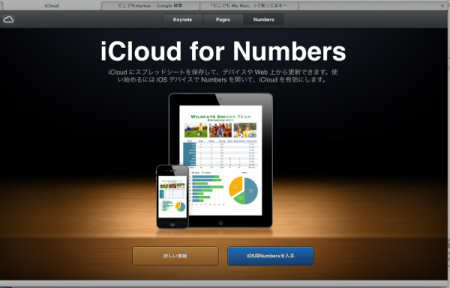 iOSでバイスでNumbersを開いてiCloudを有効にしてください、と出る